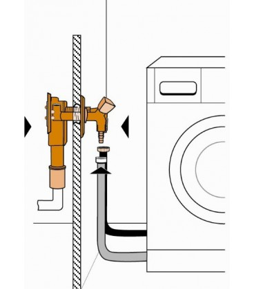 Siphon encastré pour lave-vaisselle BANYO