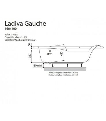 Baignoire Ladiva