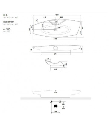 Vasque Kong 110R avec trou robienetterie