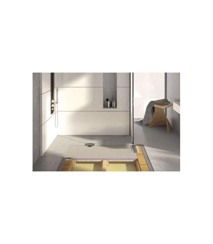 Receveur carreler aqua flat jackon pour sanitaires for Epaisseur receveur a carreler