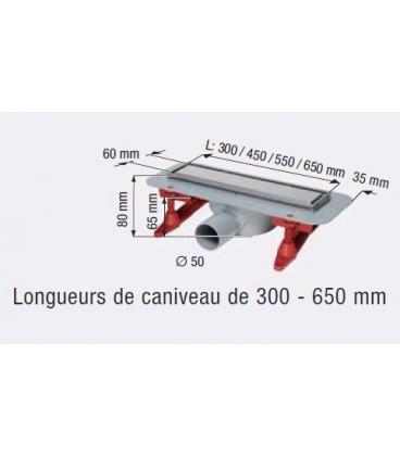Caniveau de douche Linearis compact