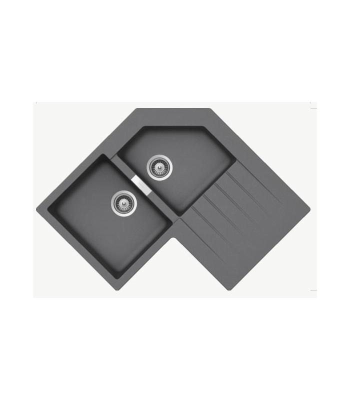 evier d 39 angle cristalite primus js en cristalite pour. Black Bedroom Furniture Sets. Home Design Ideas