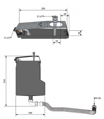 Boitier pour montage bord de baignoire