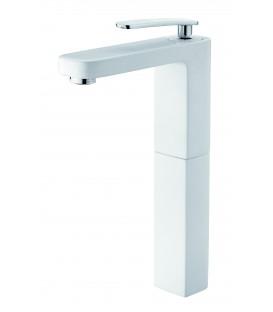 Mitigeur lavabo Despertar blanc réhaussé