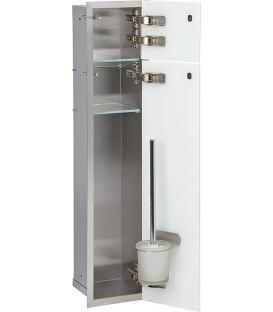 niche à encastrer en inox pour WC