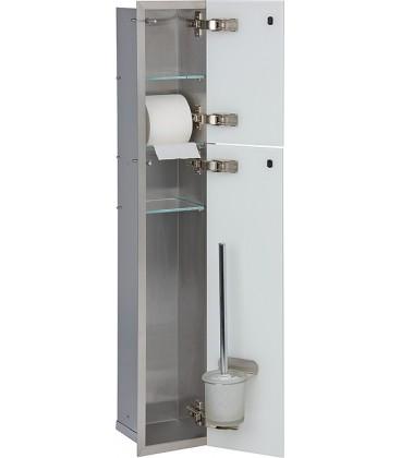 niche à encastrer en inox pour WC 150 x 950 mm