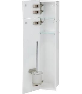 Niche pour WC à encastrer intérieur blanc