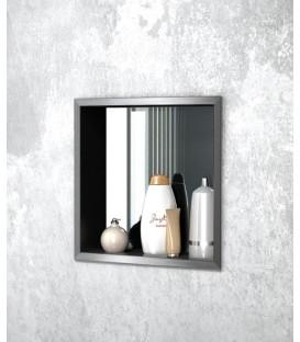 Niche à encastrer ouverte avec panneau arrière miroir